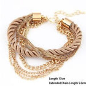 Jewelry - Braided Rope Multilayer Bracelet Bangle Chain